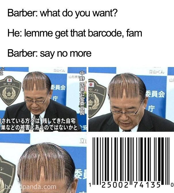 Haircut that looks like a bar code