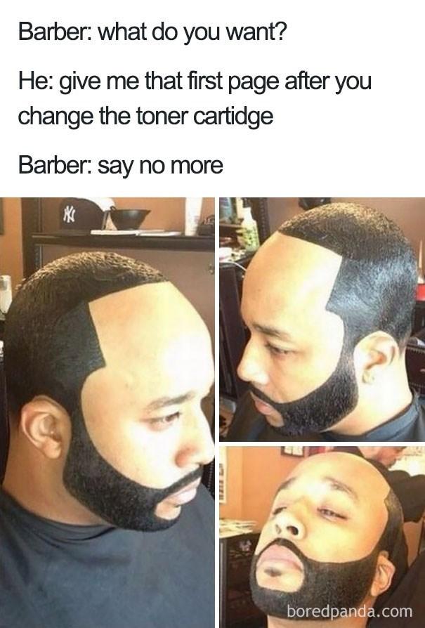 really thick fake hair haircut