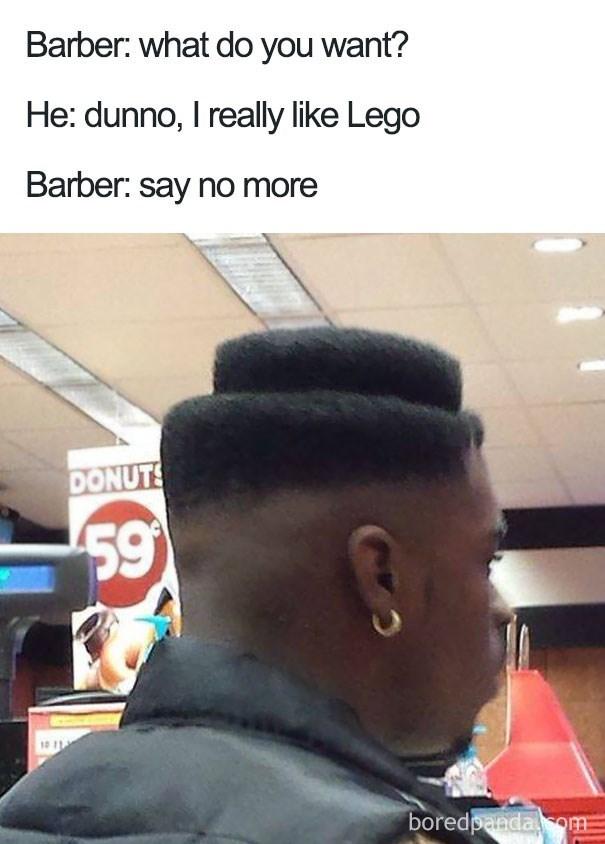 Lego style haircut