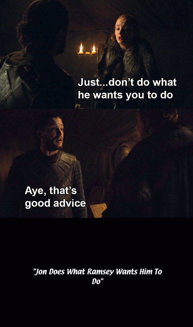 Jon Snow meme from Game of Thrones