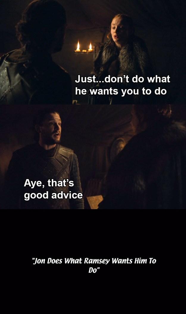 Jon Snow meme from Game of Thrones