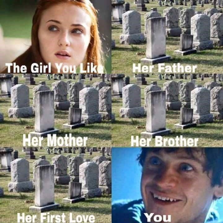 Sansa Stark meme about the girl you like.