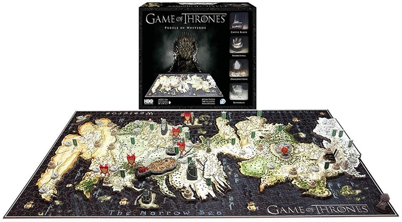 Games - GAME oFIHRONES PUZZLE OF WESTEROS CASTLE BLAK HARRINHAL DRAGONSTONE AGES 3 HBO RIVERRUN GAME OFHRONES The arr ow