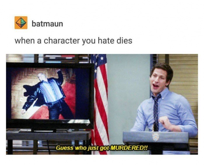 Product - batmaun when a character you hate dies Guess who just got MURDERED!!