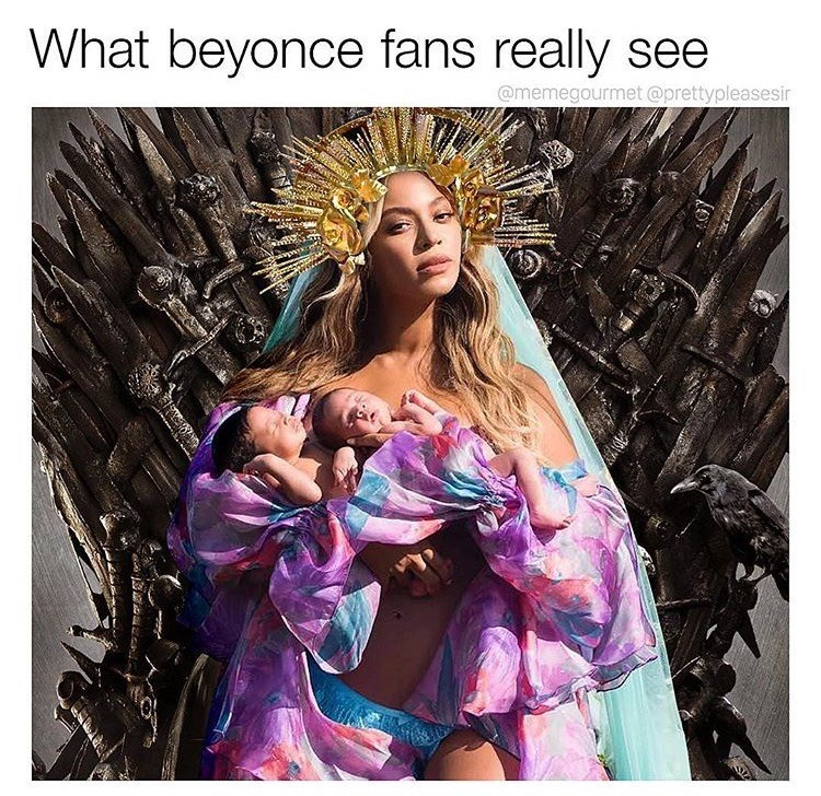 Beauty - What beyonce fans really see @memegourmet @prettypleasesir