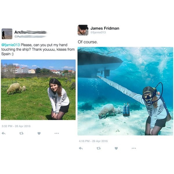 Girl misspells SHEEP as SHIP and James does it.