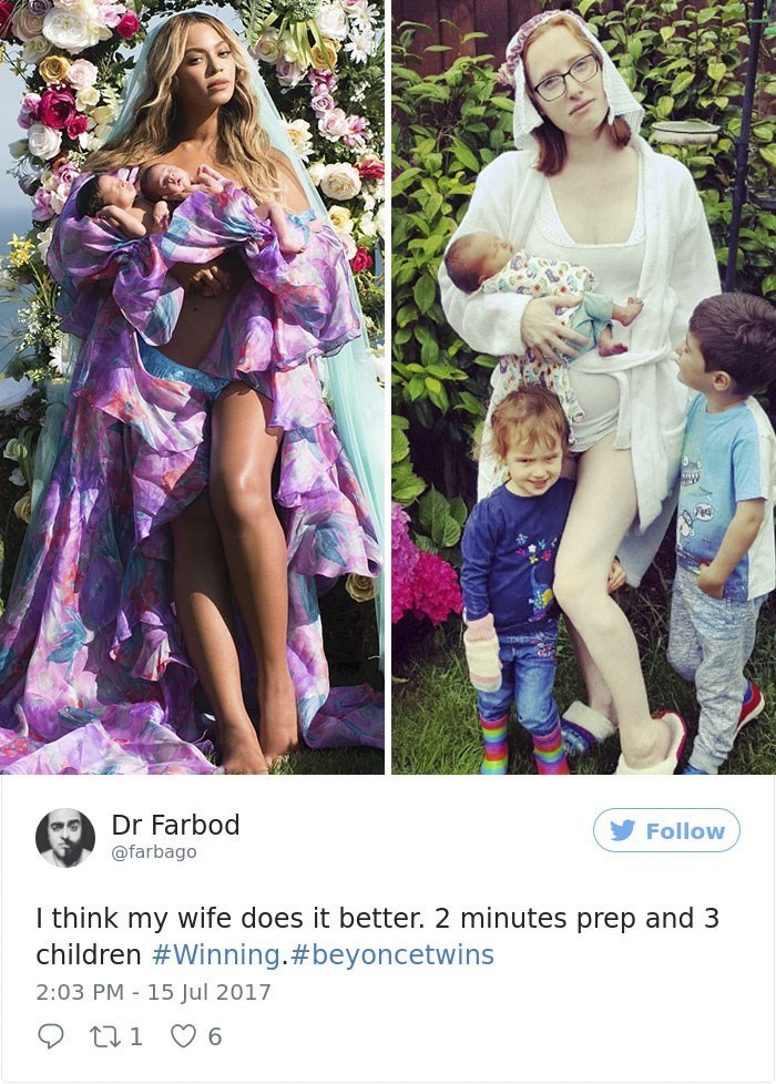 beyonce vs regular mom with kids