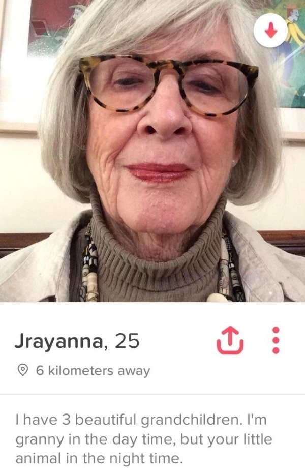 Granny that posted on Tinder