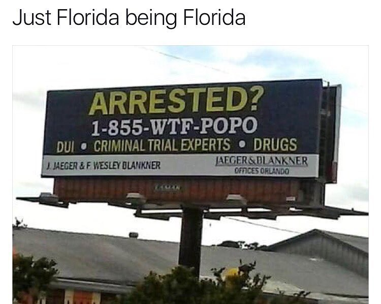 Funny meme about florida.