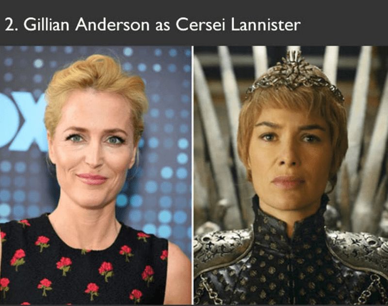 Gillian Anderson auditioned for role as Cersei Lannister