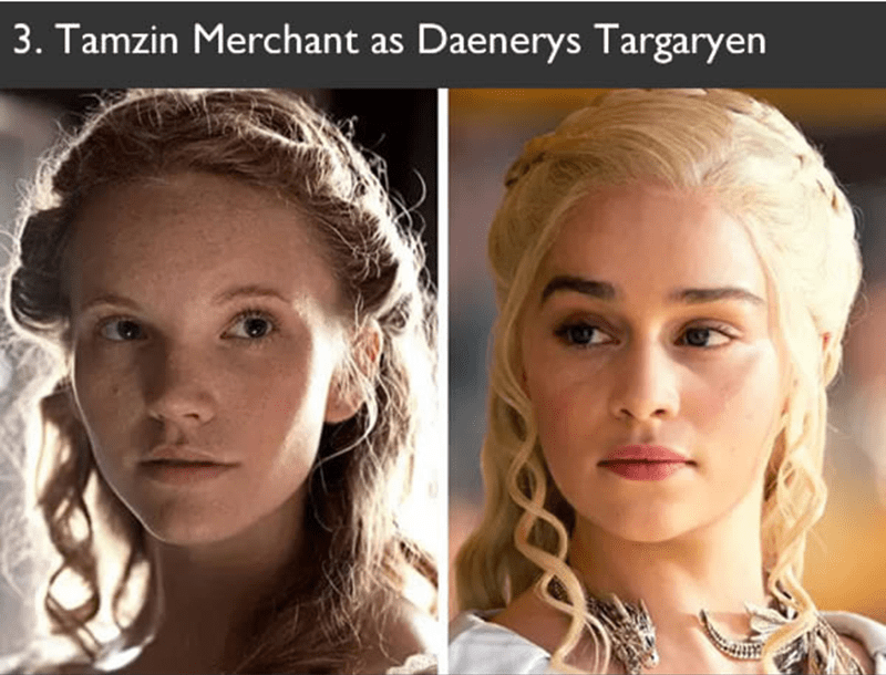 Tamzin Merchant auditioned for the role in Game of Thrones of Daenerys Targaryen