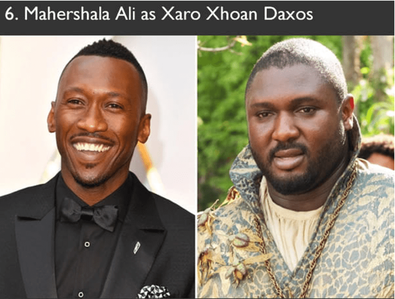 Mahershala Ali had auditioned to play the role of Xaro Xhoan Daxos