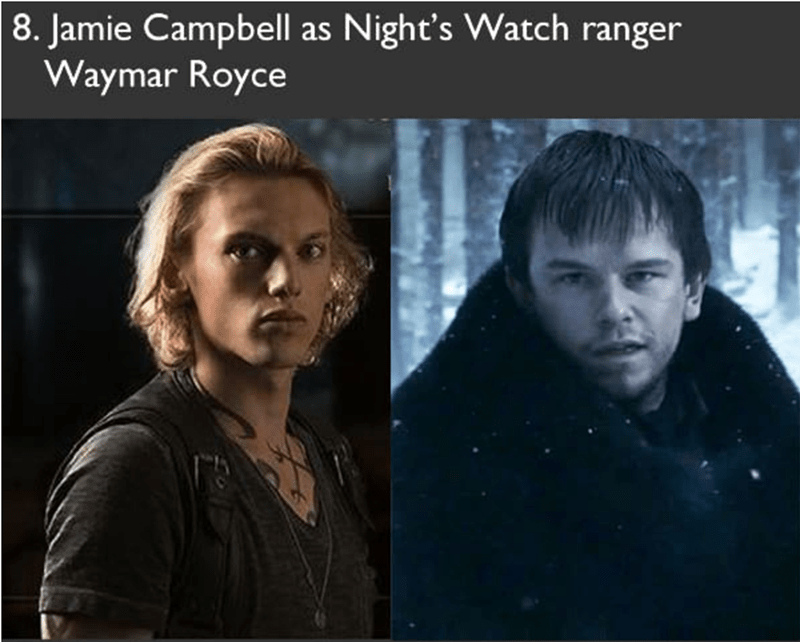 Jamie Campbell had auditioned to play as Night's Watch ranger Wymar Royce