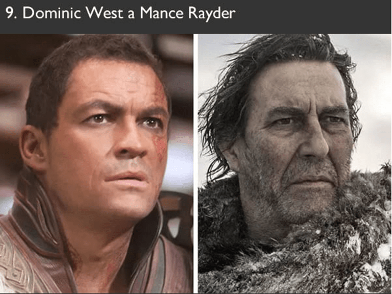 Dominic West auditioned to play Mance Rayder in game of thrones