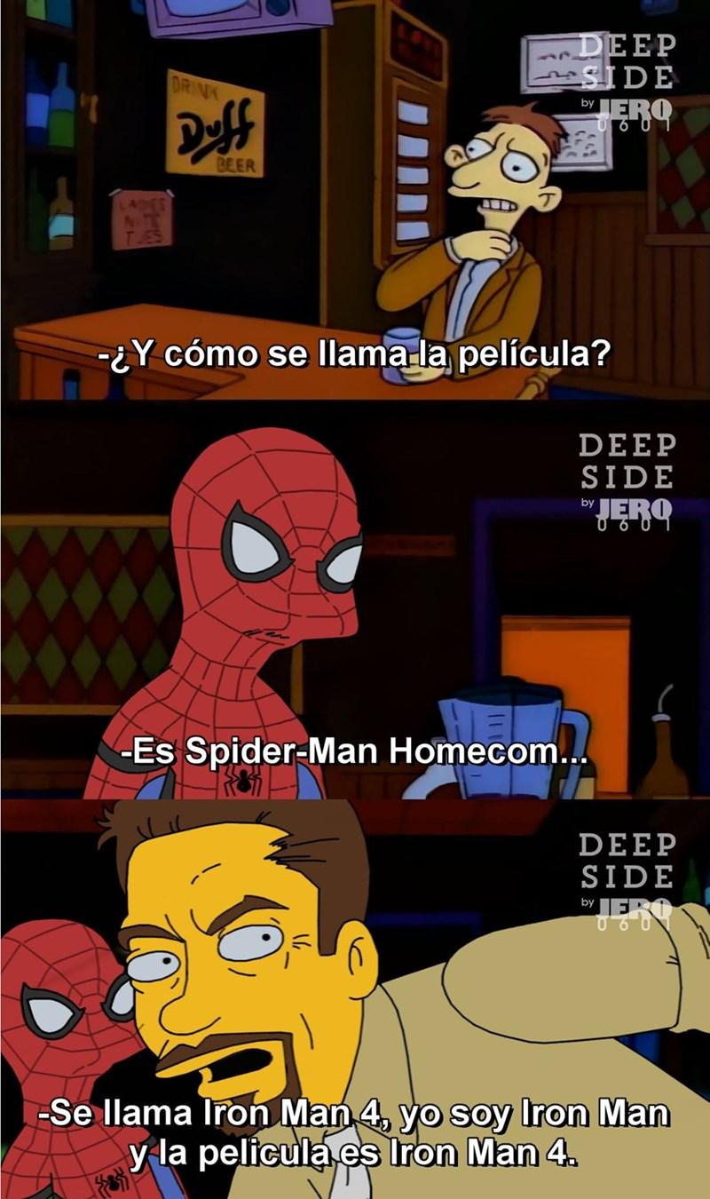 y como se llama la pelicula spiderman hom iron man 4