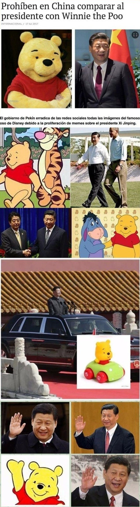 gobierno chino prohibe comparar presidente con winnie poo