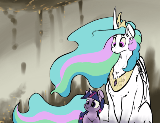 twilight sparkle princess celestia the cutie mark chronicles greyscale - 9056141824