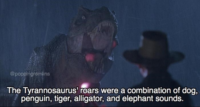 jurassic park meme about the roar of the t-rex