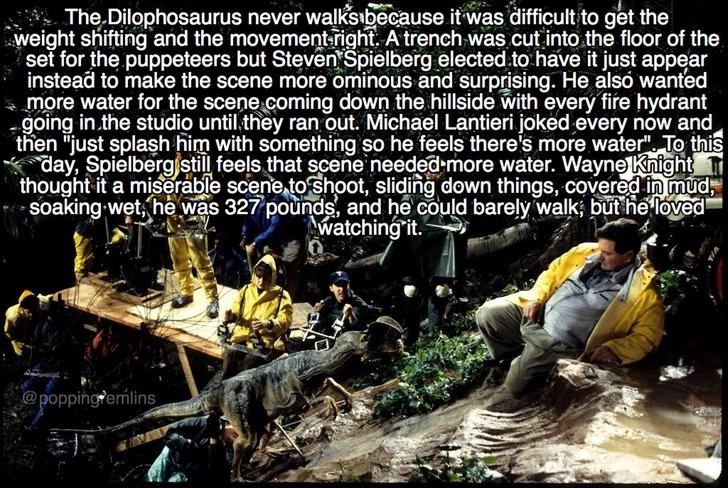 Jurassic Park meme about why the dilophosaurus never walked