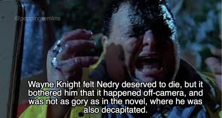 Meme about how Wayne Knight felt about Nedry dying