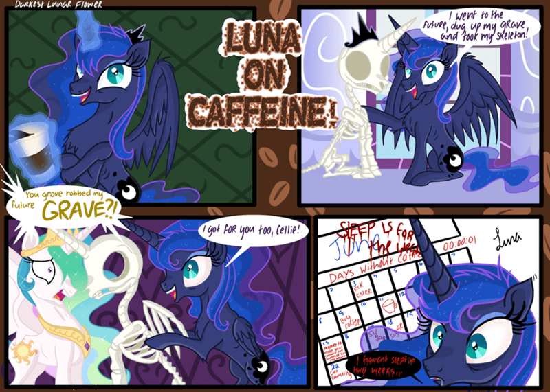darkest lunar flower princess luna comic princess celestia - 9056931840