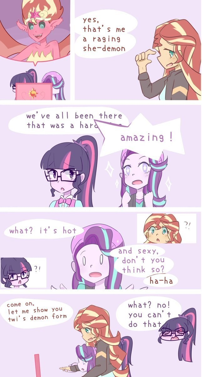 shipping equestria girls starlight glimmer twilight sparkle mirror magic sunset shimmer yuck web comics - 9057052928