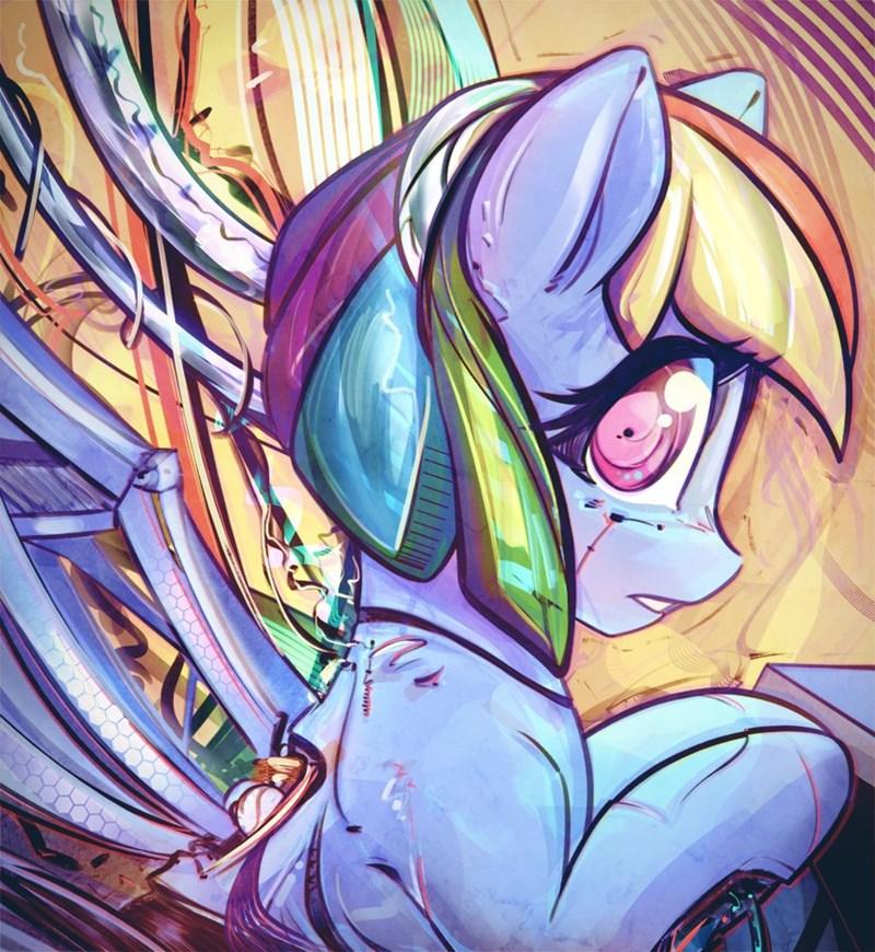 cyborg mirroredsea rainbow dash - 9057054208
