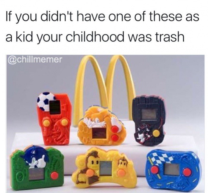 Meme about McDonald's happy meal toys.