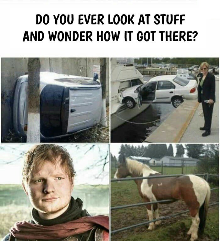 Funny meme about Ed Sheeran on Game of Thrones.