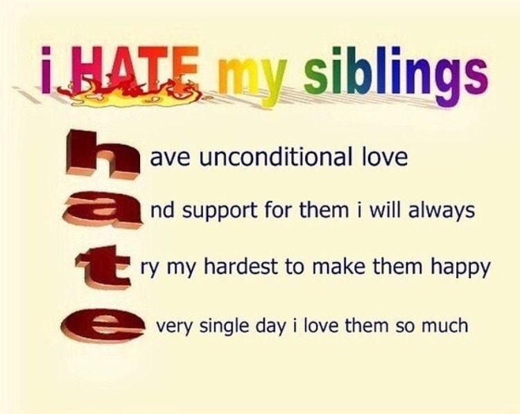 Meme about sibling rivalry