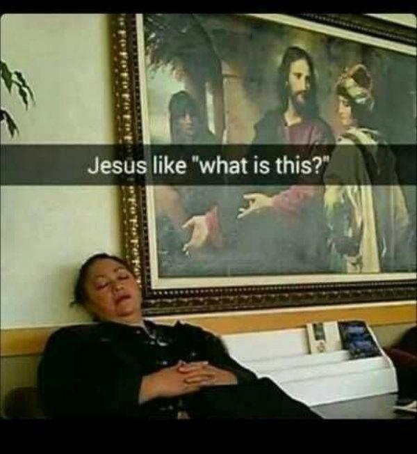 Gesturing Jesus meme