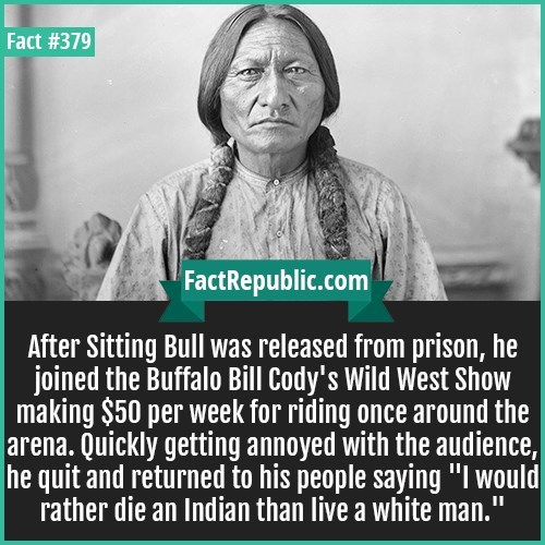Fun fact about Sitting Bull