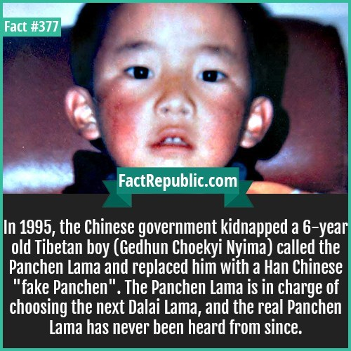 fun fact about Dalai Lama