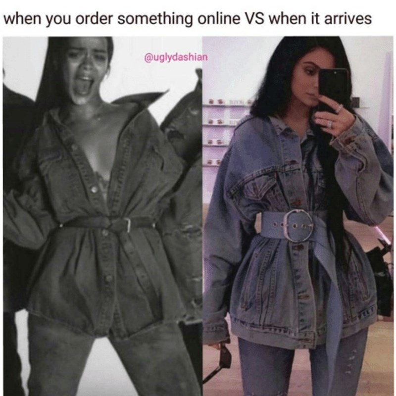 Clothing - when you order something online VS when it arrives @uglydashian