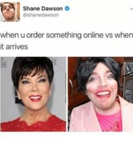Face - Shane Dawson shanedawson when u order something online vs when it arrives FE