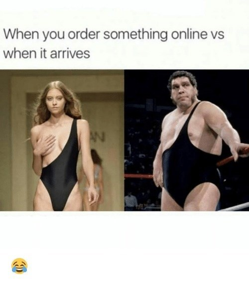 Leotard - When you order something online vs when it arrives AN