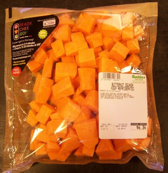 Butternut Squash that was confused for cheese
