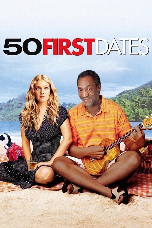 Hilariously brutal meme of 50 First Dates movie poster with Bill Cosby superimposed over Adam Sandler.