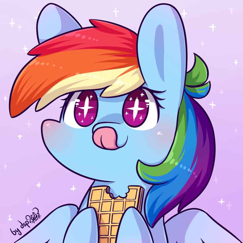 bait dsp2003 waffles rainbow dash opinions - 9057560320