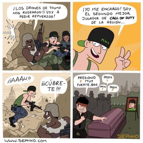 chico que se cree soldado por haber jugado call of duty
