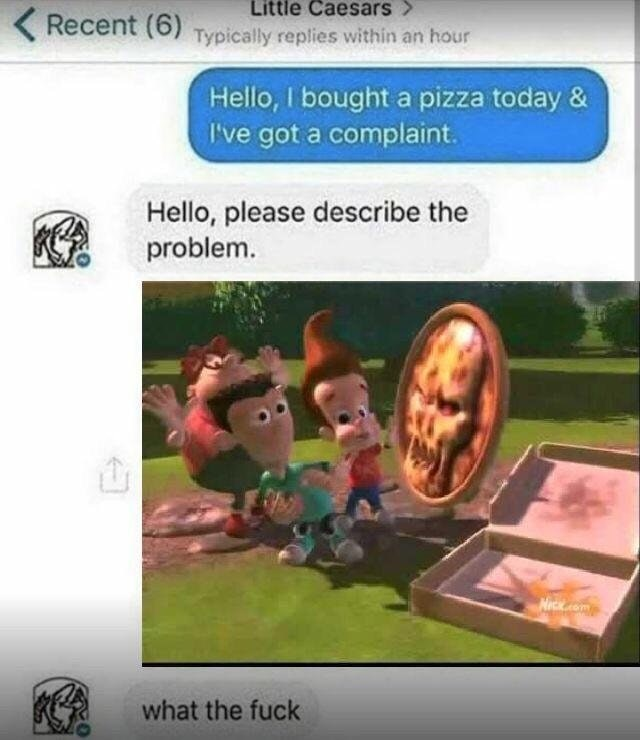 Dank meme of ordering pizza prank