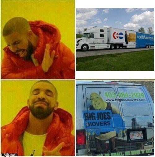 Dank meme of Drake movers
