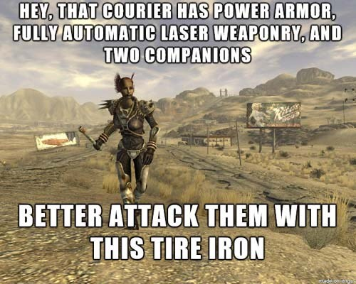 Adventure game - FULLY AUTOMATIC LASER WEAPONRY, AND TWO COMPANIONS Ritas BETTER ATTACK THEM WITH THIS TIRE IRON