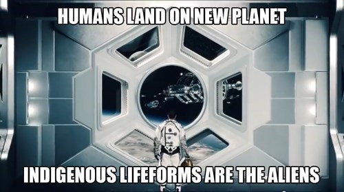Font - HUMANS LAND ONNEW PLANET INDIGENOUS LIFEFORMS ARETHEALIENS