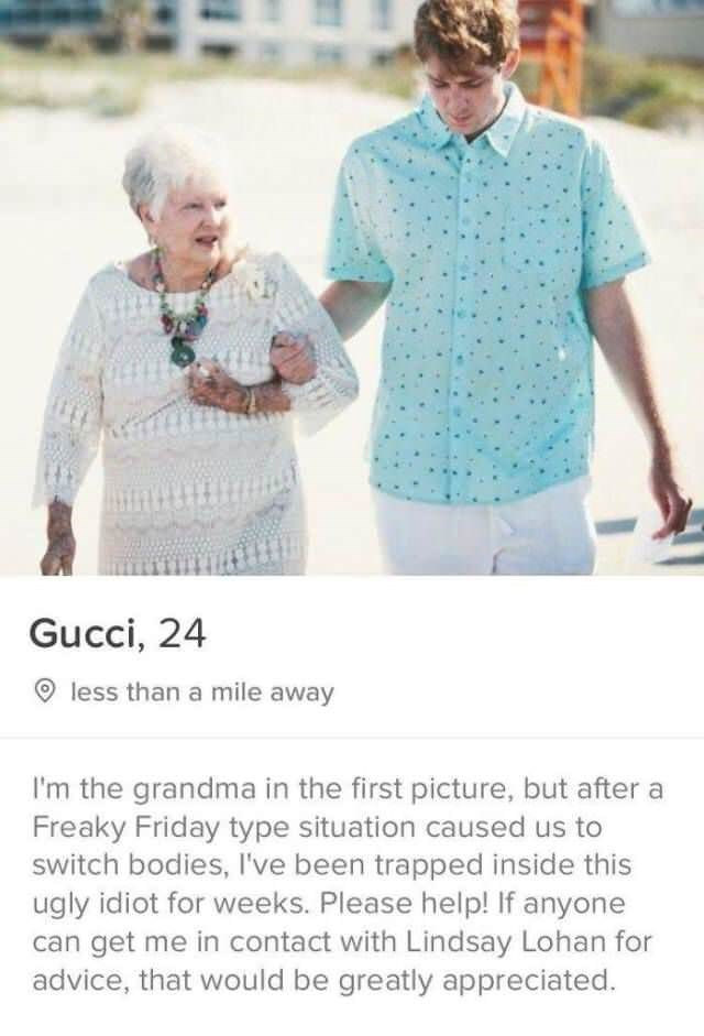 Gucci who claims to have body swapped with a dude and grandma and wants help getting in contact with Lindsay Lohan