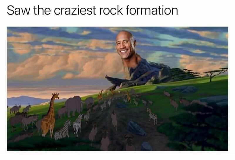 random meme - Nature - Saw the craziest rock formation