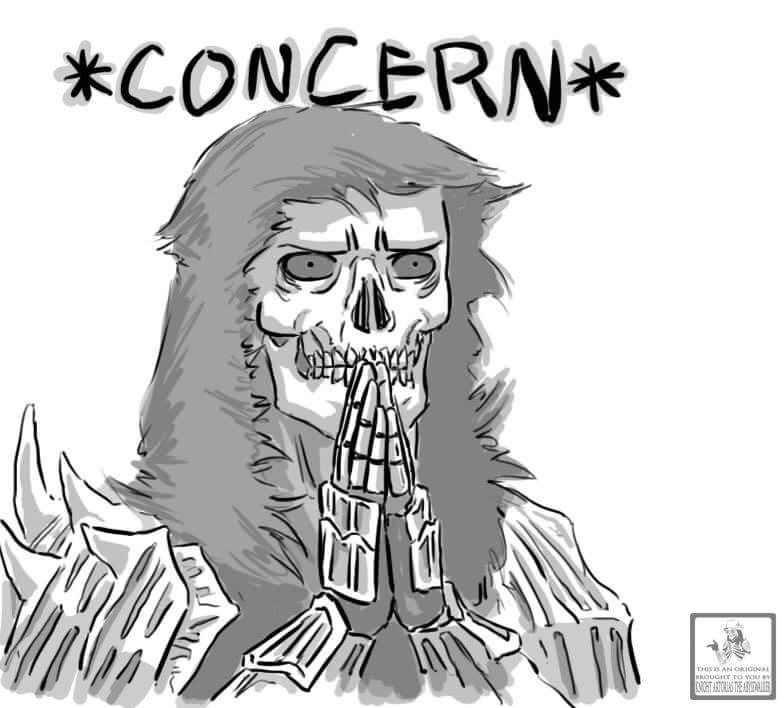 Concerned skeleton webcomic