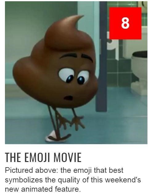 Emoji Movie symbolizing poop