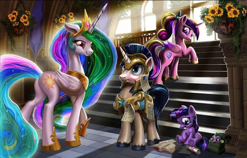 spike princess cadence twilight sparkle shining armor harwick princess celestia - 9059136768