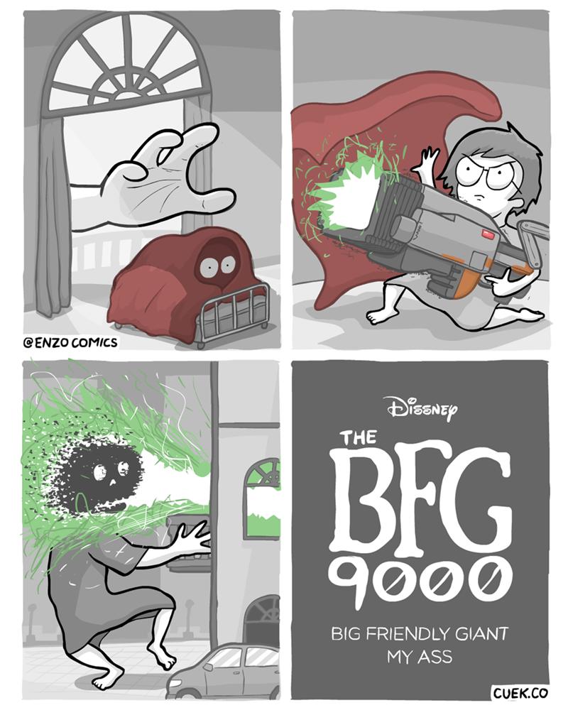 webcomic - Cartoon - CENZO COMICS dawsae THE BFG 9000 BIG FRIENDLY GIANT MY ASS CUEK.CO